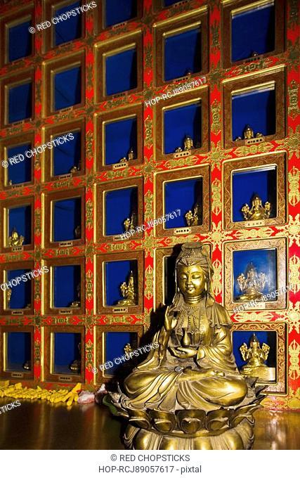 Statue in a temple, Da Zhao Temple, Hohhot, Inner Mongolia, China