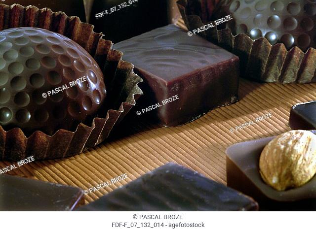 Close-up of chocolates