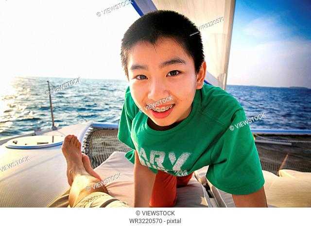 The boy on the yacht