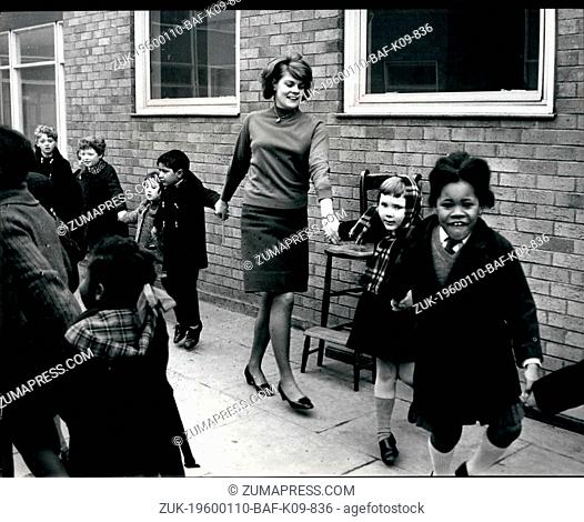 1980 - Wolverhampton, England - School Integration in UK: Students enjoying playtime at school. White and black child studying together at West Park School -...