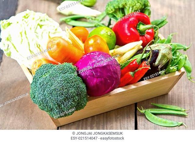 Fresh varieties of vegetables