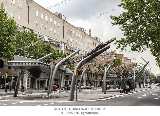 Street view, avenue,avinguda icaria in poblenou vila olimpica, Barcelona