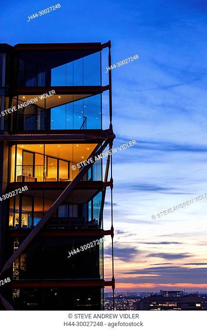 England, London, Southwark, Bankside, New Apartments at Dusk