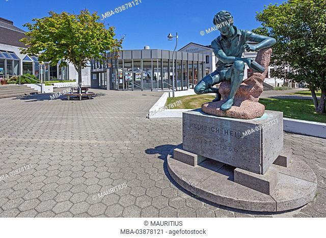 Kurtheater, foremanor, Heinrich Heine monument, Island Norderney, East Frisian Island, Lower Saxony, Germany, Europe