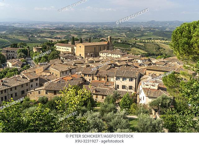 San Gimignano, Toskana, Italien   San Gimignano, Tuscany, Italy