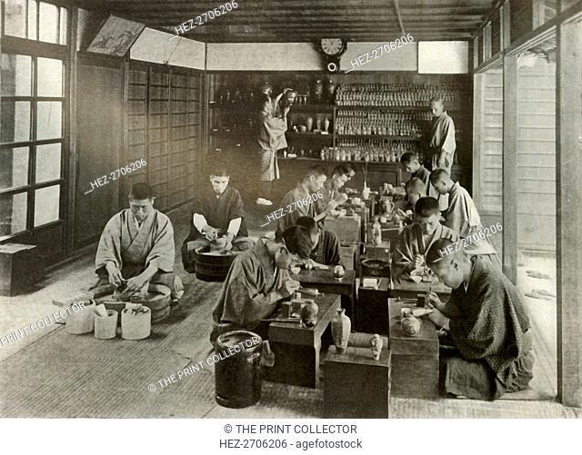 'Namikawa's Workroom', 1910. Creator: Herbert Ponting