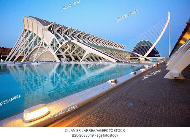 CAC. Architect Santiago Calatrava, Ciudad de las Artes y de las Ciencias. City Of Arts and Sciences. Valencia. Comunidad Valenciana. Spain