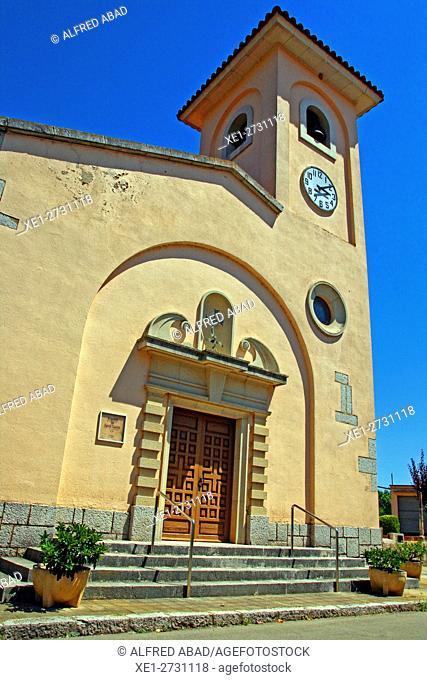 Church of Santa Cecilia, Terrades, Alt Emporda, Catalonia, Spain