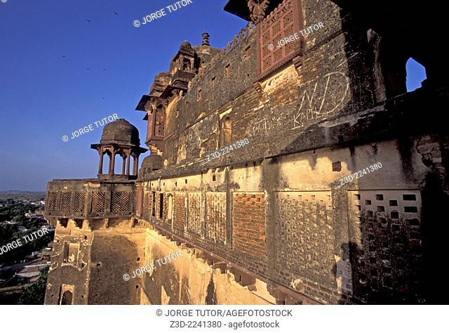 Bir Singh Palace at sunset, Datia Madhya Pradesh