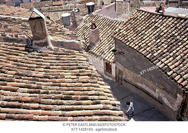 Looking down on the rooftops of Cehegin in Murcia Province, Southern Spain