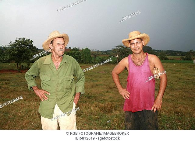 Two field workers in Vinales, Pinar del Río Province, Cuba, Latin America