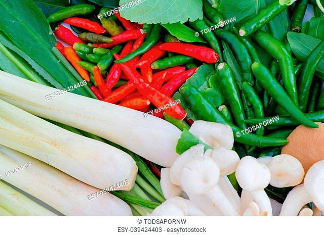 Traditional Vegetables most use by restaurant in Thailand