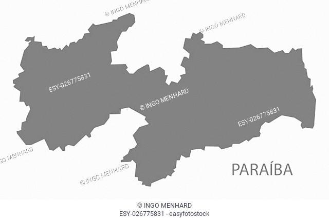 Paraiba Brazil Map grey