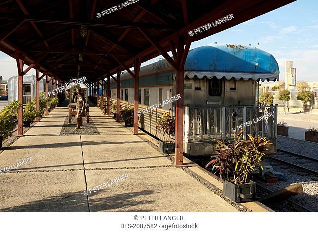 Presidential Rail Car At The Former Rail Yard, Plaza Tres Centurias, Aguascalientes, Mexico