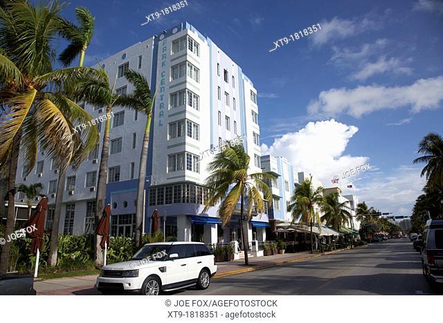 park central hotel and ocean drive art deco historic district ocean drive miami south beach florida usa