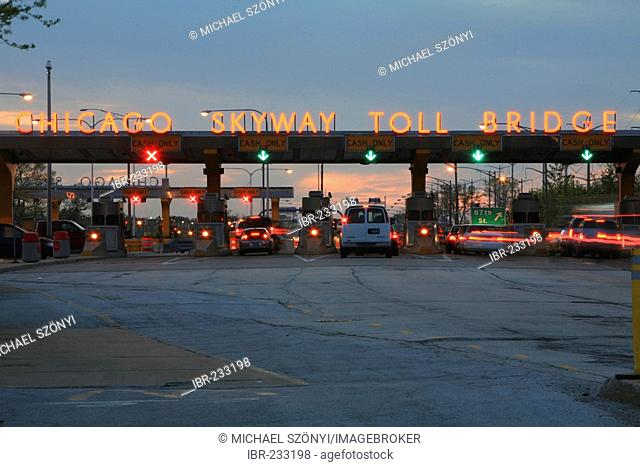 Chicago skyway toll bridge Stock Photos and Images | age
