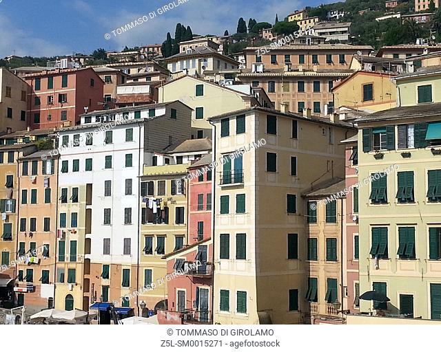 Italy, Liguria, Camogli, Architecture