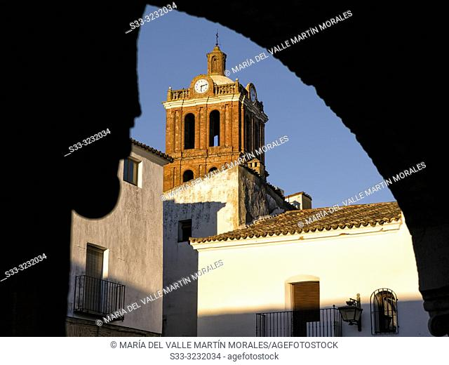 Our Lady of the Candelaria church fron The Small Square in Zafra. Badajoz. Spain. Europe