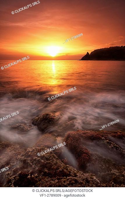 Capo Vaticano, Tropea, Calabria, Italy. Sunset at Capo Vaticano