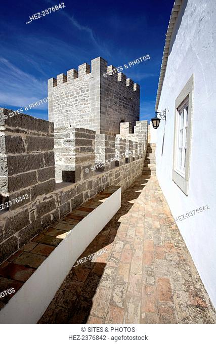 Loule Castle, Loule, Portugal, 2009. Part of the walls are all that remain of the old castle complex which probably dates back to Moorish times