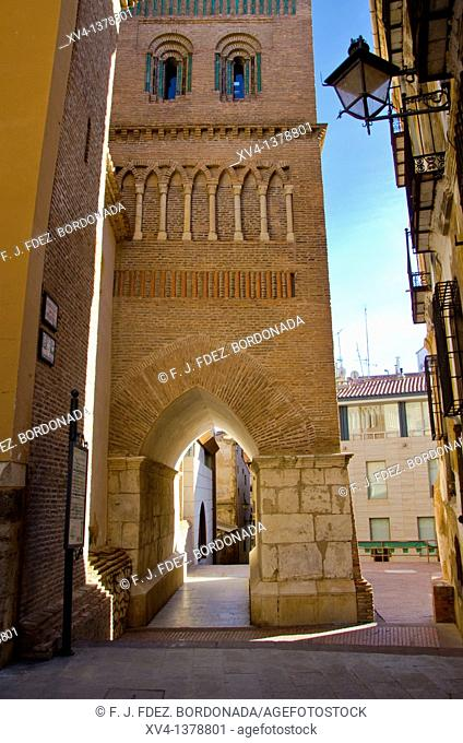 San Pedro Church views form above during the mediaeval love story celebrated every year since 1996 in Teruel is called the celebration of Las Bodas de Isabel de...