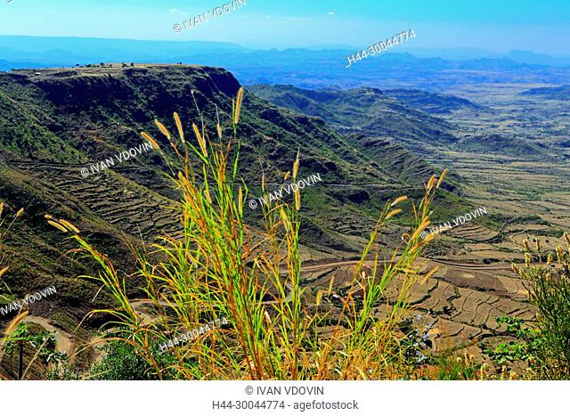 View from Lalibela hills, Amhara region, Ethiopia