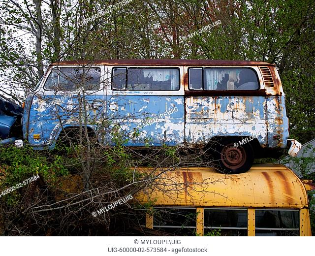 Junkyard with vw cars Stock Photos and Images | age fotostock