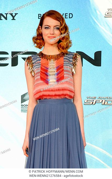 """German premiere of """"""""The Amazing Spider-Man 2 - Rise Of Electro"""""""" at Cinestar am Potsdamer Platz movie theater. Featuring: Emma Stone Where: Berlin"