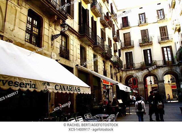 Plaça Reial, Barcelona, Catalonia, Spain
