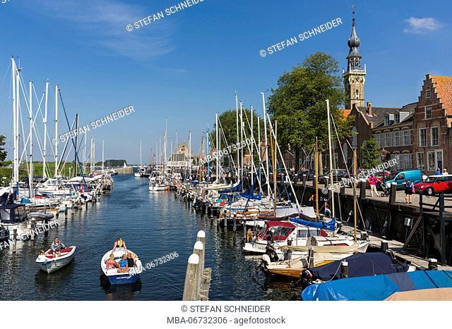 The harbour of Veere on Zeeland / the Netherlands