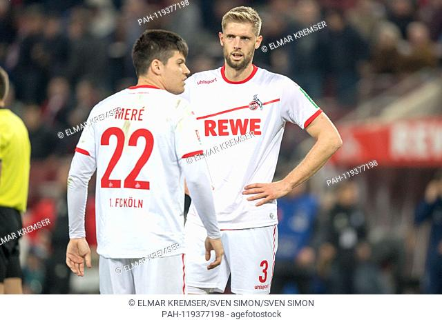 Jorge MERE (left, K) and Lasse SOBIECH (K) are disappointed after the end of the game, disappointed, disappointed, disappointed, sad, frustrated, frustrated