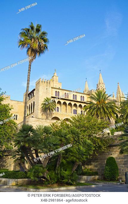 L'Almudaina, Royal Palace of La Almudaina, Palma, Mallorca, Balearic islands, Spain