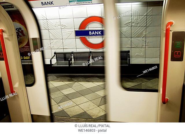 Bank underground station, London