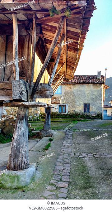Hórreo in Piloñeta village, Nava, Asturias, Spain