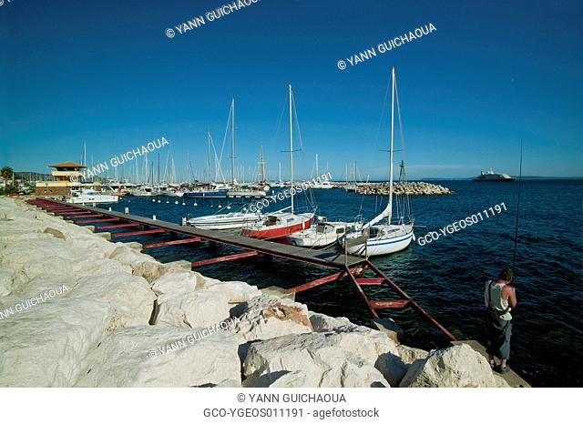 Le Lavandou's Harbour, Var, Provence, France