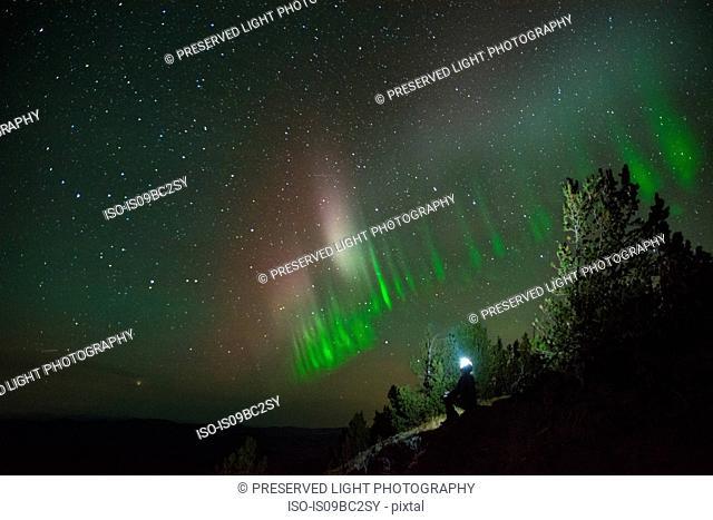 Auroral arc, Nickel Plate Provincial Park, Penticton, British Columbia, Canada