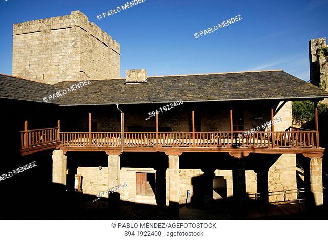 Castle of Castro Caldelas in Orense province, Spain