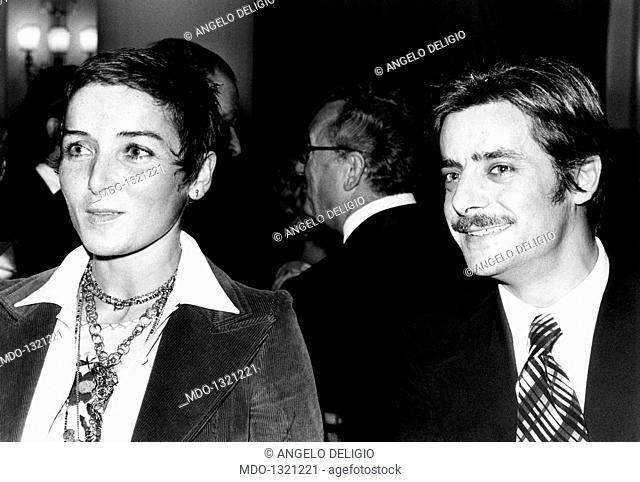 Giancarlo Giannini with his wife Livia Giampalmo at the Cannes Film Festival. The italian actor and voice actor Giancarlo Giannini taking part in the festival...