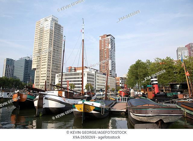 Barges at Martime Museum, Rotterdam, Holland