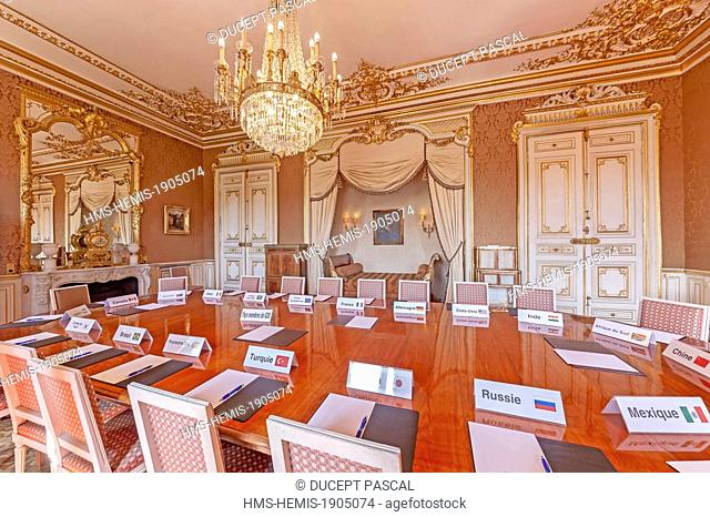 France, Paris, Quai d'Orsay, the hotel of the Foreign Ministry, the King's room used as a meeting room for the G20