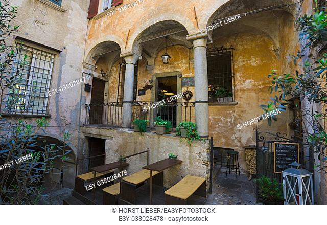Romantic restaurant in the old town of Cannobio - Lago Maggiore, Verbania, Piemont, Italy