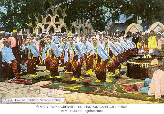 Myanmar - Performing yein pwe - traditional National dance which features singing and dancing performed by an ensemble / chorus