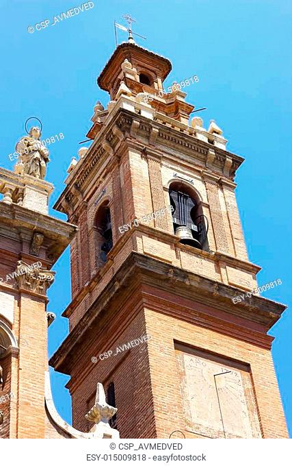 """Bell Tower of the church is known as """"The Congregation"""" in Valencia, Spain. Inglesia de Santo Tomas y San Filipe Neri (""""The Congregation"""") in Valencia"""