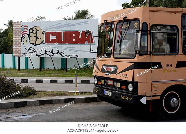 Political billboard, Cienfuegos, Cuba