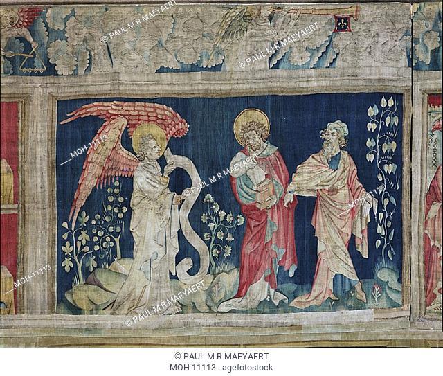 La Tenture de l'Apocalypse d'Angers, Les larmes de saint Jean 1,46 x 2,35m