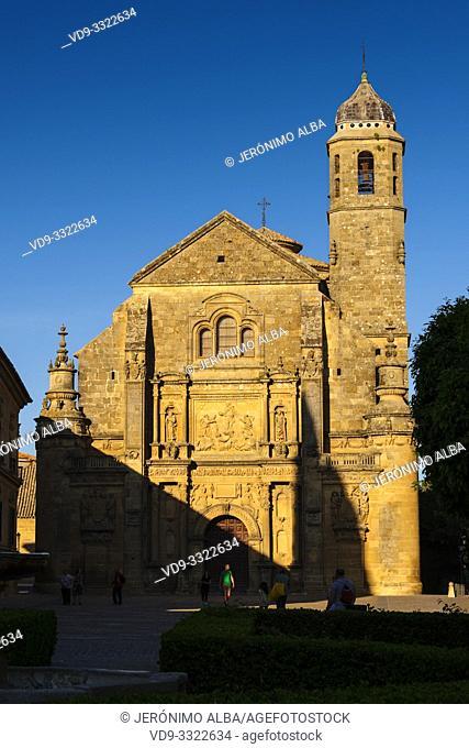 Salvador Church in Plaza de Vázquez Molina. Ubeda, Jaén province. southern Andalusia. Spain Europe