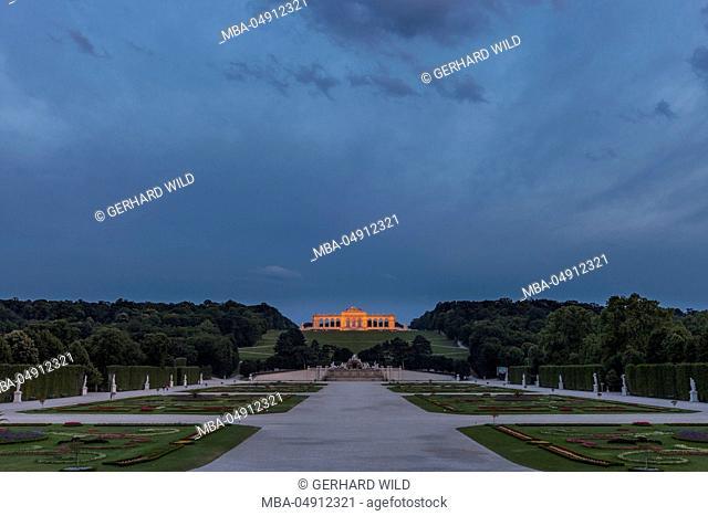 Austria, Vienna, 13 districts, Hietzing, Gloriette, Neptune Fountain, Schönbrunn Palace Park