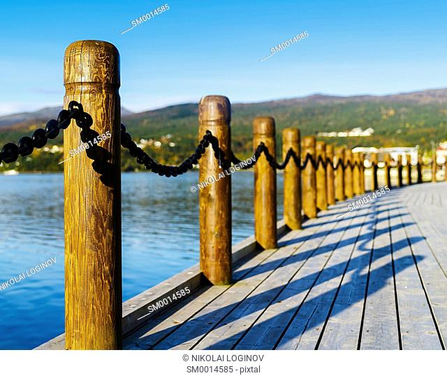 Horizontal Norway pier perspective background