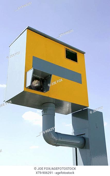 Imitation Gatso UK traffic speed camera used at shows for demonstration purposes