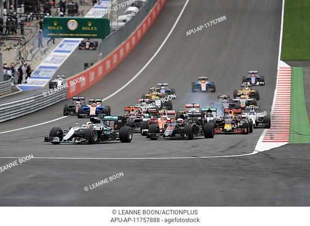 2016 Formula 1 Austrian Grand Prix Race Day Jul 3rd. 03.07.2016. Red Bull Circuit, Spielberg, Austria. F1 Grand pix of Austria. Race Day
